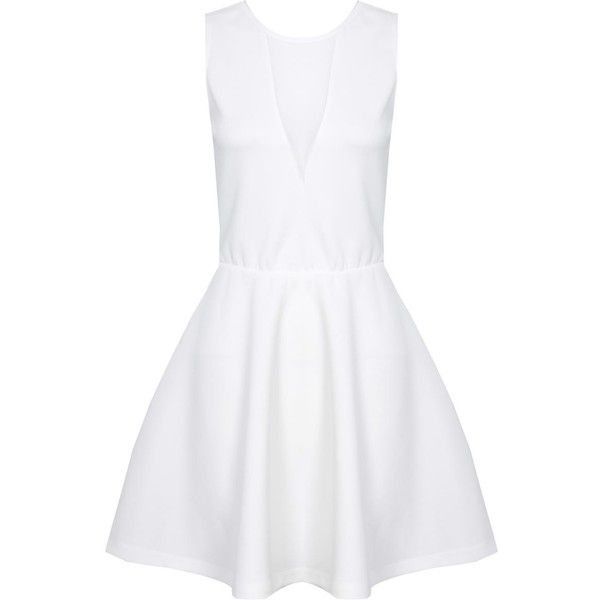 White Mesh Cut Out Dress - NEW IN - Shop By Product - Stylemetv.com ❤ liked on Polyvore