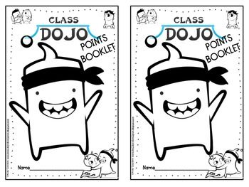 Class Dojo Prize Points Posters and Booklet {free