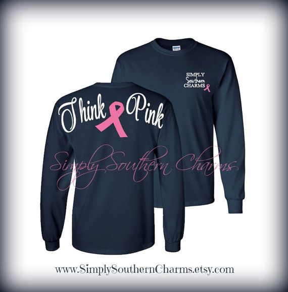 8f9a50192 Long Sleeve Breast Cancer Awareness Tshirt by SimplySouthernCharms ...