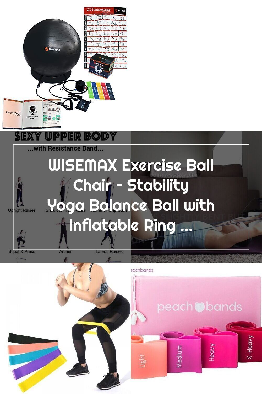WISEMAX Exercise Ball Chair Stability Yoga Balance Ball
