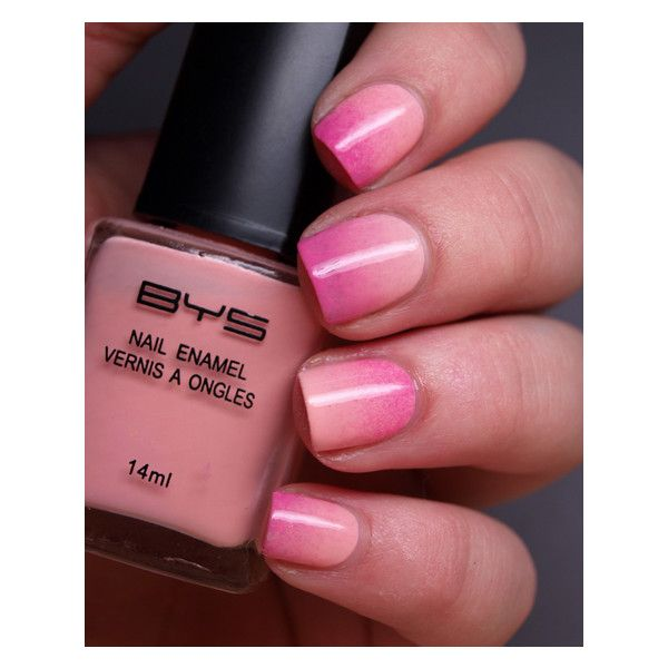 Nail Art Alert! How To Get Ombre Nails At Home ❤ liked on Polyvore featuring nails, beauty, nail polish and nail art