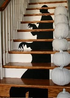 Perfect IDEAS U0026 INSPIRATIONS: Shadow In The Stairs   Halloween Staircase Decorations