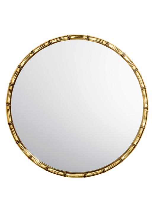 gold bamboo mirror. Round Gold Bamboo Mirror