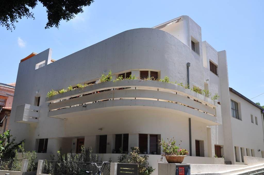 Bauhaus Style architecture in Tel Aviv, Israel