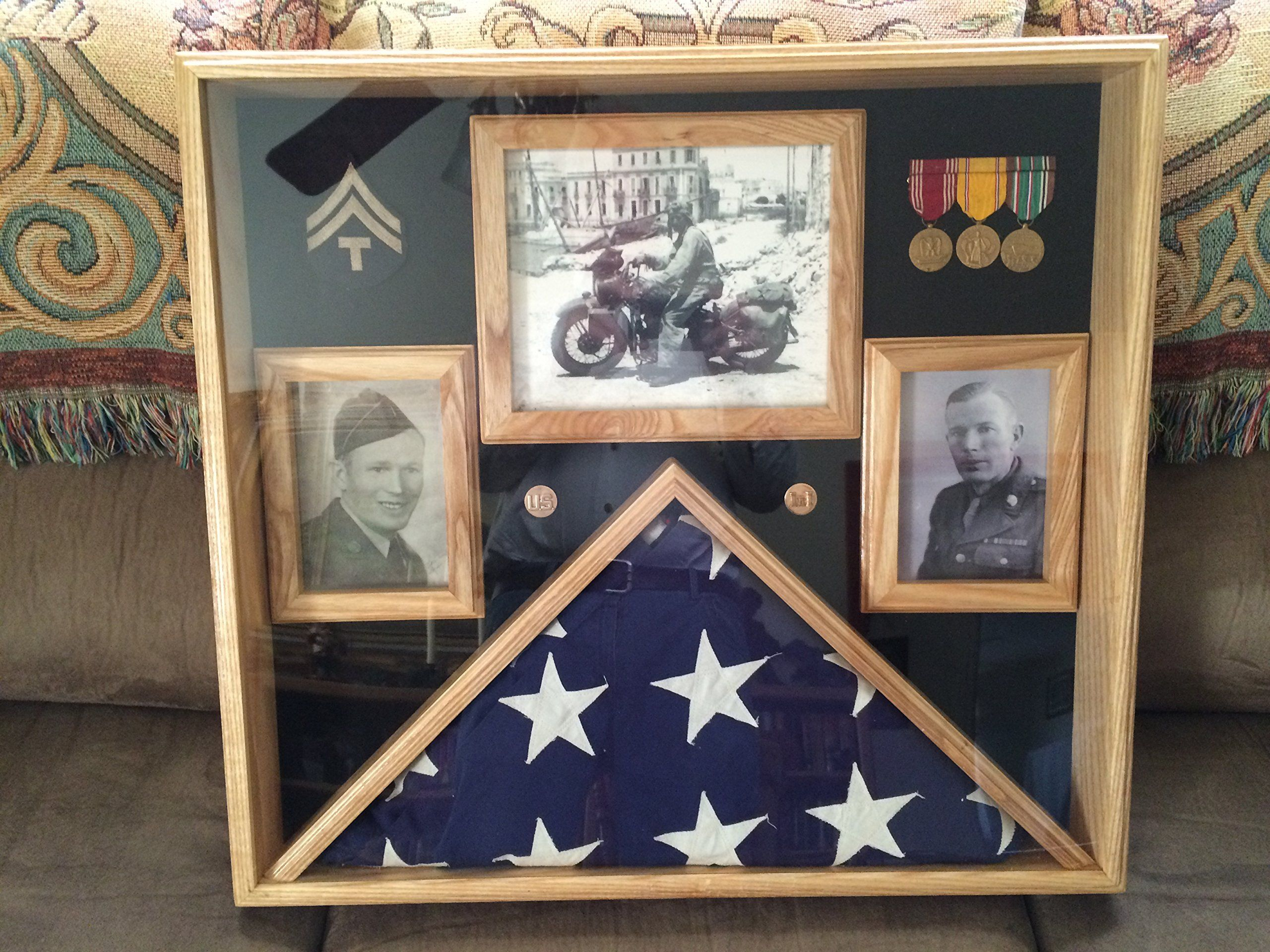 5x9.5 Burial Flag Display Case Military 5x9.5 Flag Display With ...