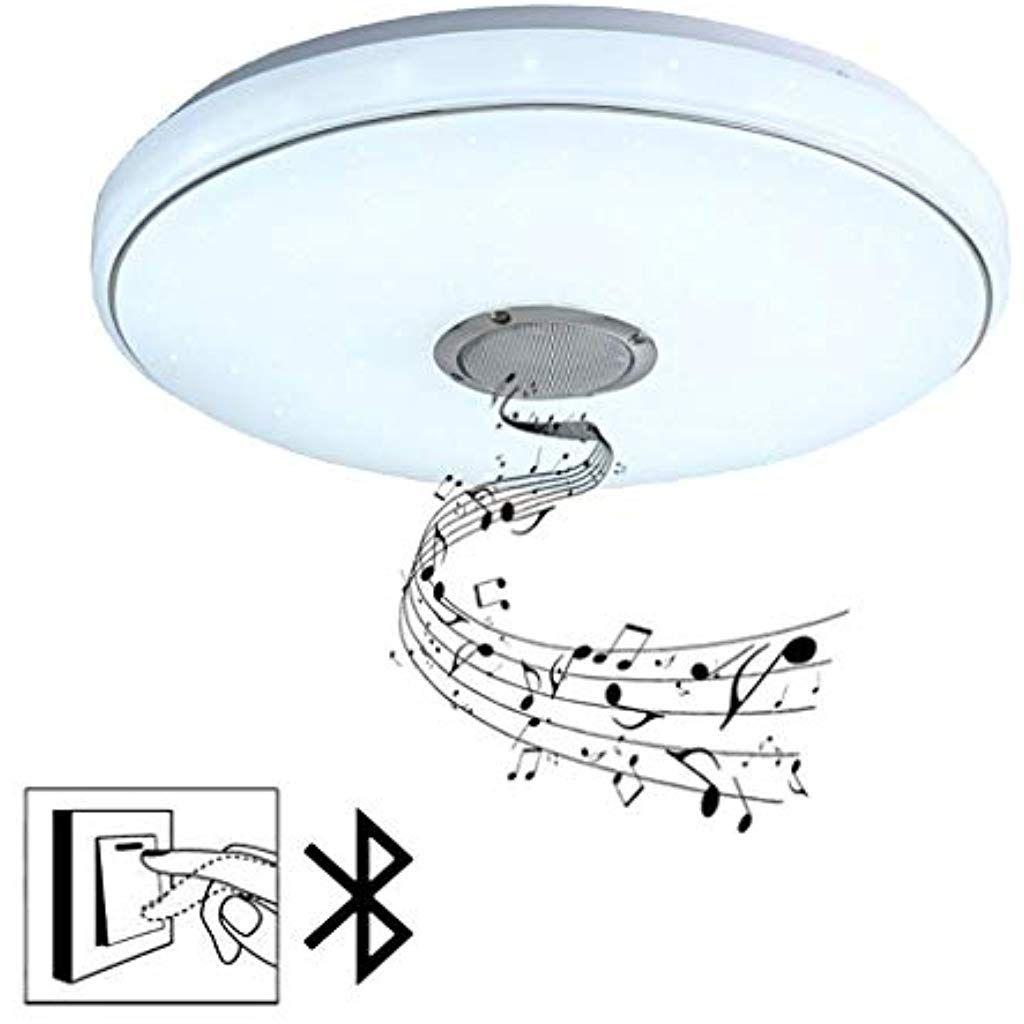 Hs Lighting 36w Bluetooth Deckenleuchte Led Deckenlampe Mit Bluetooth Lautsprecher 3 Leuchtmodi Dimmbar In 2020 Led Deckenlampen Led Deckenleuchte Led Leuchtstoffrohre