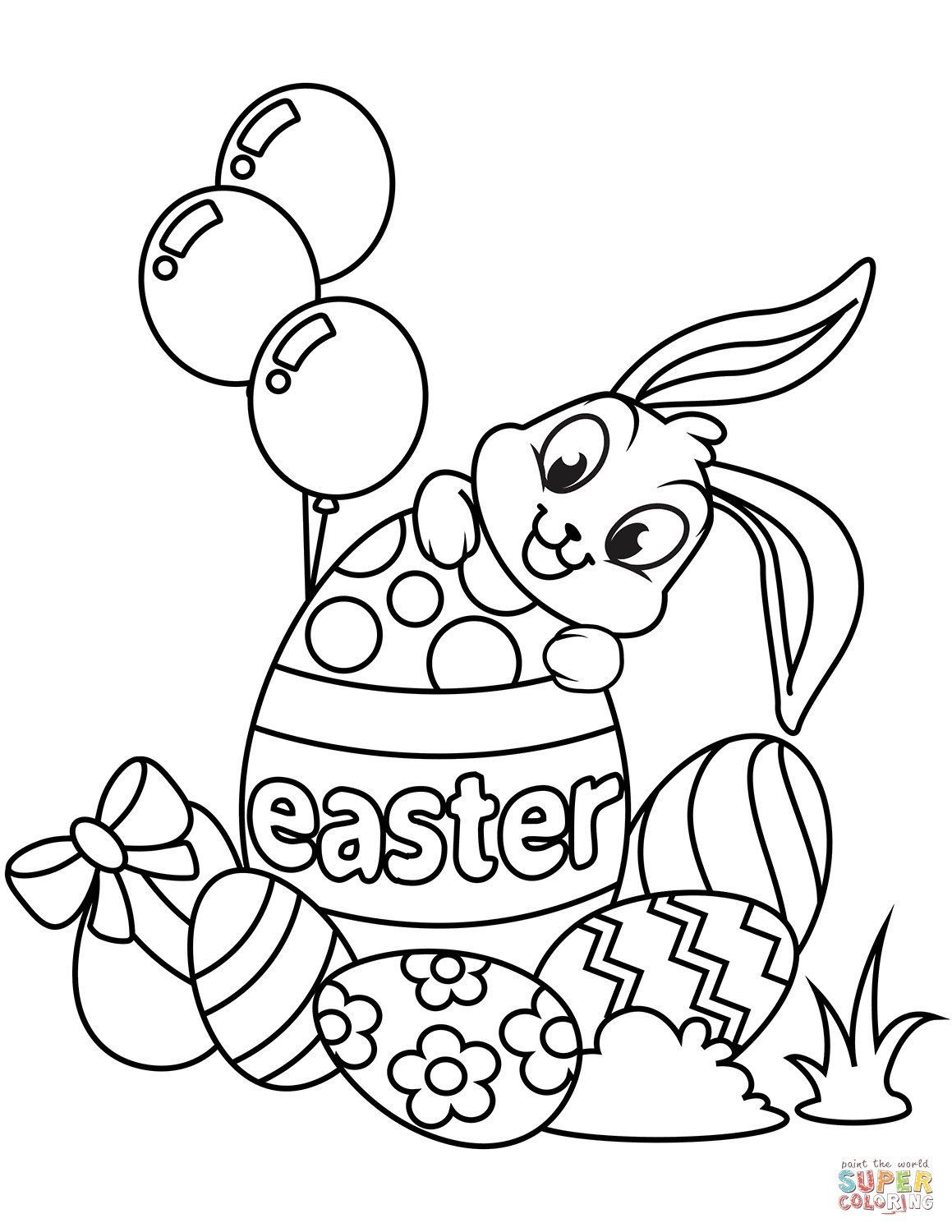 Coloring Pages Printable Easter In 2020 Easter Bunny Colouring Easter Coloring Book Easter Coloring Sheets