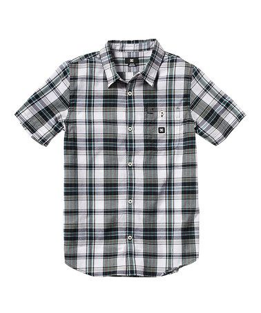 d4515c3c1 Take a look at this White Plaid Dignan Button-Up - Toddler & Boys by DC on  #zulily today!
