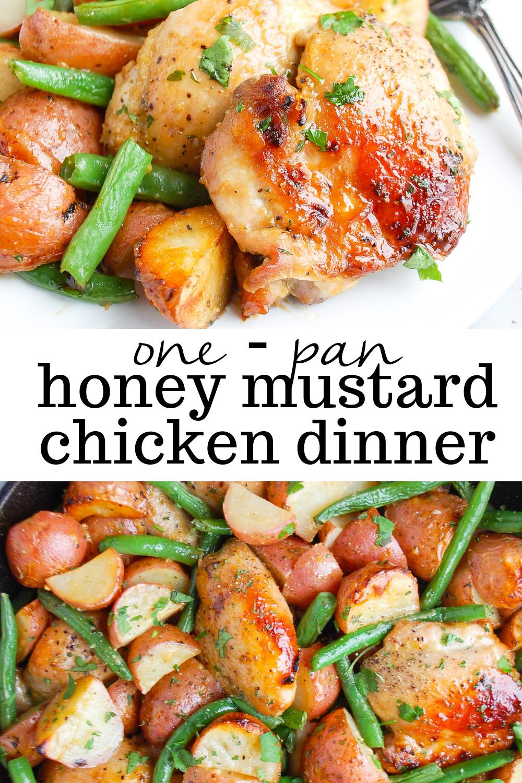 One Pan Honey Mustard Chicken Dinner   Erin Lives Whole #onepanchicken