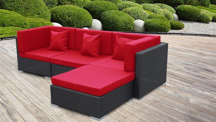 Bergen Ii Schwarz Rot Aus Stahl Gartenma Bel Gartengewa Chshaus Gartenschirme Rattan Lounge Mobel Gartenschirme Gartenmobel