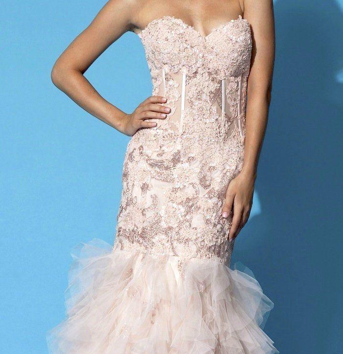 Jovani 1267 blush cheap dresses