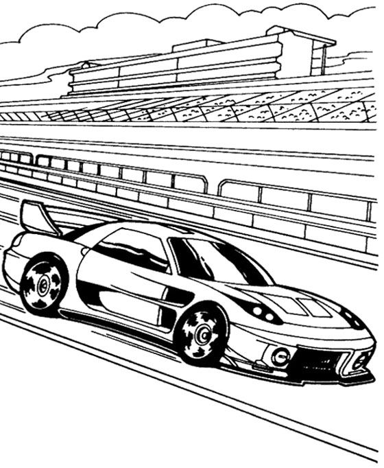 Hot Wheels Track Race Coloring Page Kids Coloring Pages