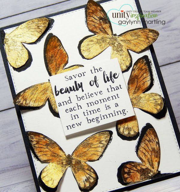 Gold Shimmer Watercolor Butterflies & video tutorial