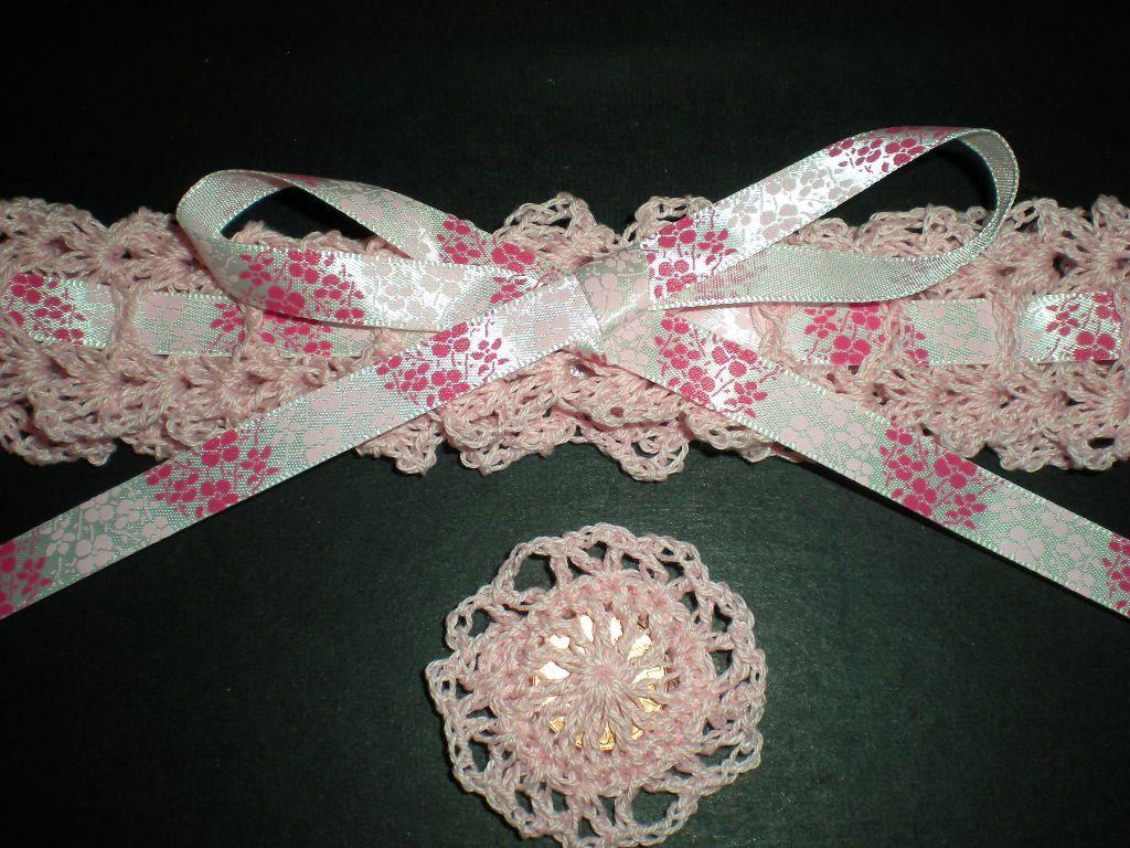 Cherry Blossoms Pink Crochet Bridal Wedding Garter by StitchNStudy ...