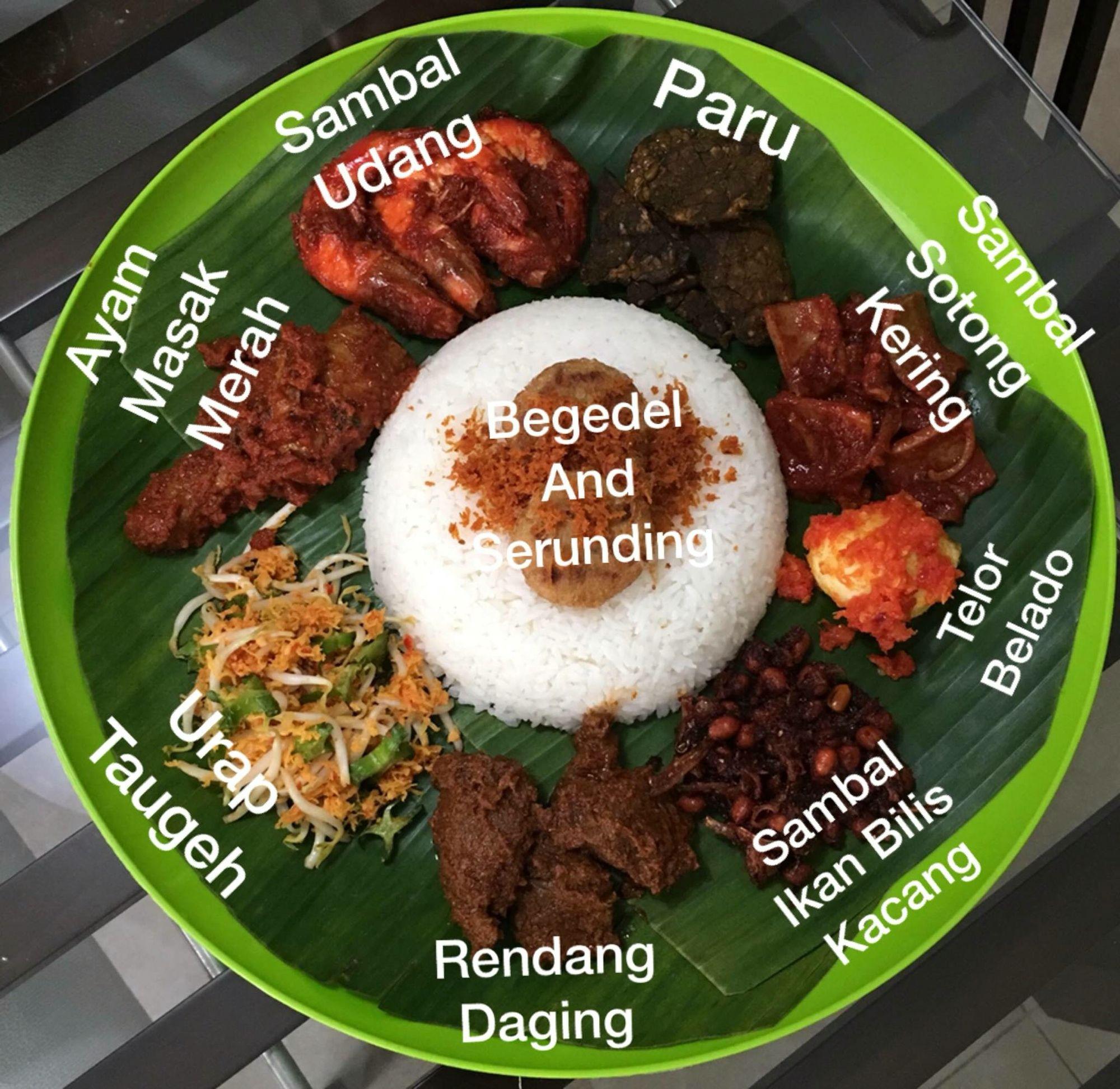 Nasi Ambeng Rodziahs Dishes Pinterest Indonesian Food Hot  Kunyit Asem 1 Ltr Ethnic Malay Rasa Malaysia Meat Salad