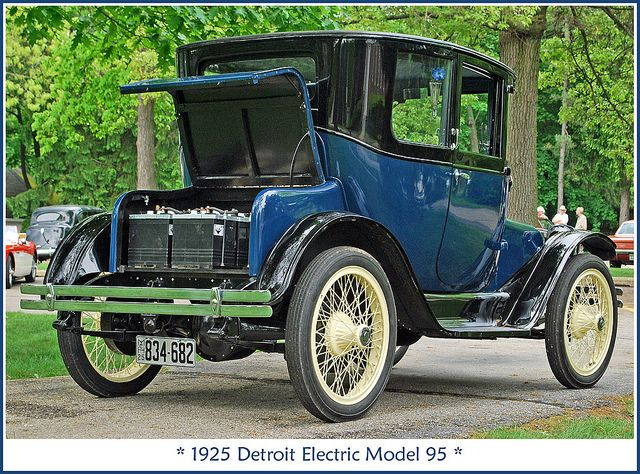 1925 Detroit Electric Electric Cars Antique Cars Cars
