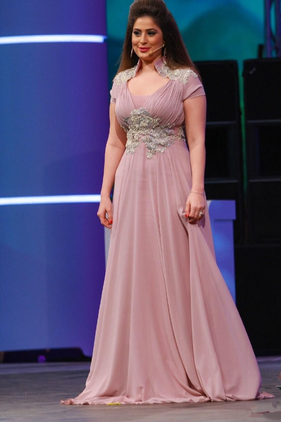 Plus-Size-Formal-2015-Celebrity-Long-Evening-Dresses-Peach-Prom ...