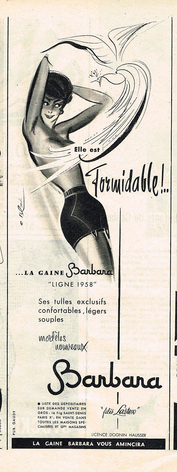 Barbara opend girdle 1958