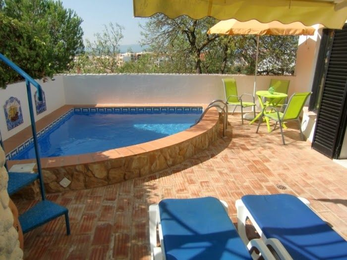 Dise o piscina peque a patiopatio pinterest piscinas for Disenos de piscinas para casas pequenas