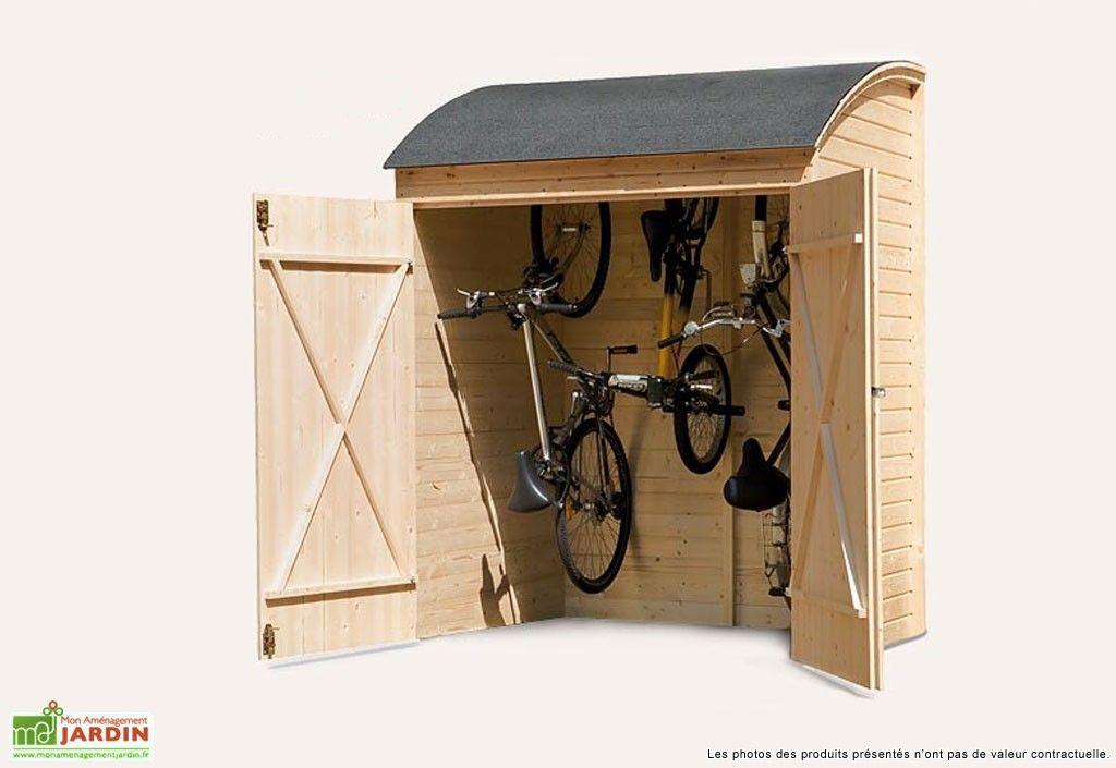 coffre de rangement bois pour v los 134x160 cabane de cour pinterest velo pour enfant. Black Bedroom Furniture Sets. Home Design Ideas