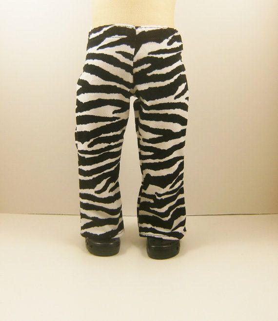 White Animal Print Skinny Leg Pants Fits American Girl Dolls Doll Clothes