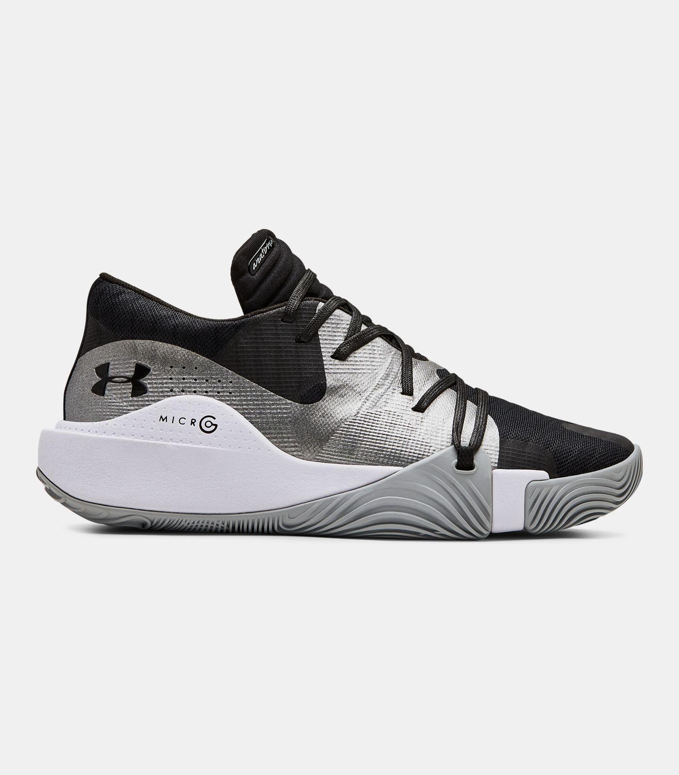 Men S Ua Anatomix Spawn Low Basketball Shoes Basketball Shoes Black Shoes Sneaker Dress Shoes