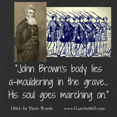 1861 His Soul Goes Marching On Civil War Quotes Words Songs