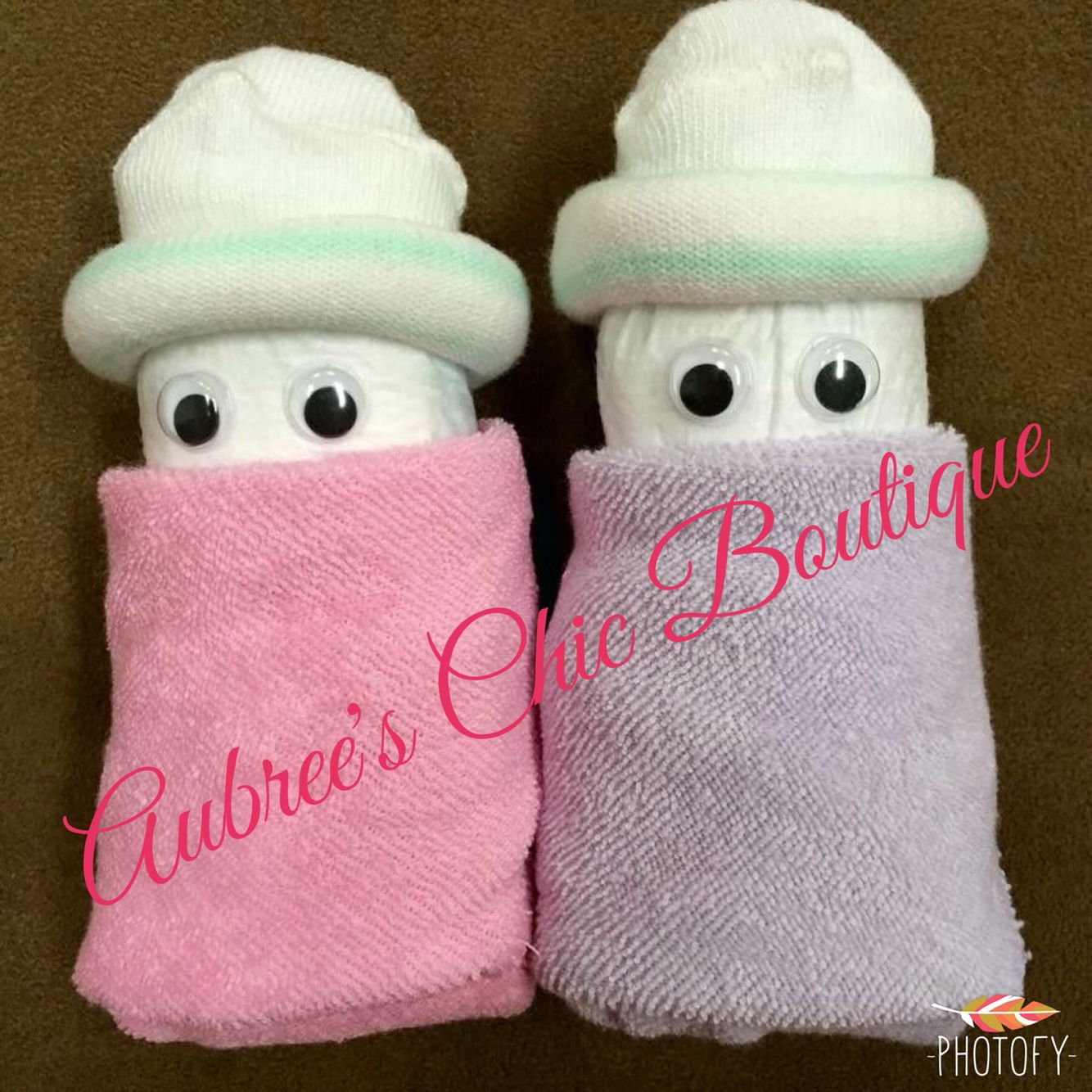 Diaper Babies Baby Shower Crafts DIY Gifts Washcloths Socks Aubreeu0027s Chic  Boutique