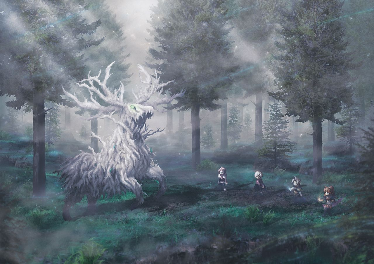 Lord Of The Forest By Orioto Traveler Wallpaper Octopath Traveler Wallpaper
