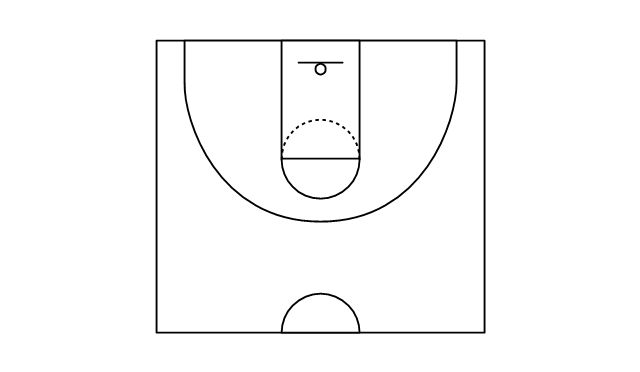 graphic relating to Printable Basketball Court identified as 50 % basketball courtroom, 50 percent basketball court docket, Basketball