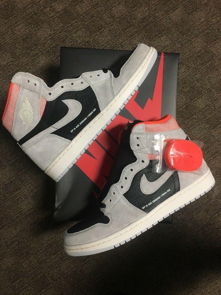 super popular 43952 fc837 Jordan 1 Neutral Grey Crimson High OG Size 10.5 READY TO SHIP  00887229628952  fashion  clothing  shoes  accessories  mensshoes   athleticshoes (ebay link)