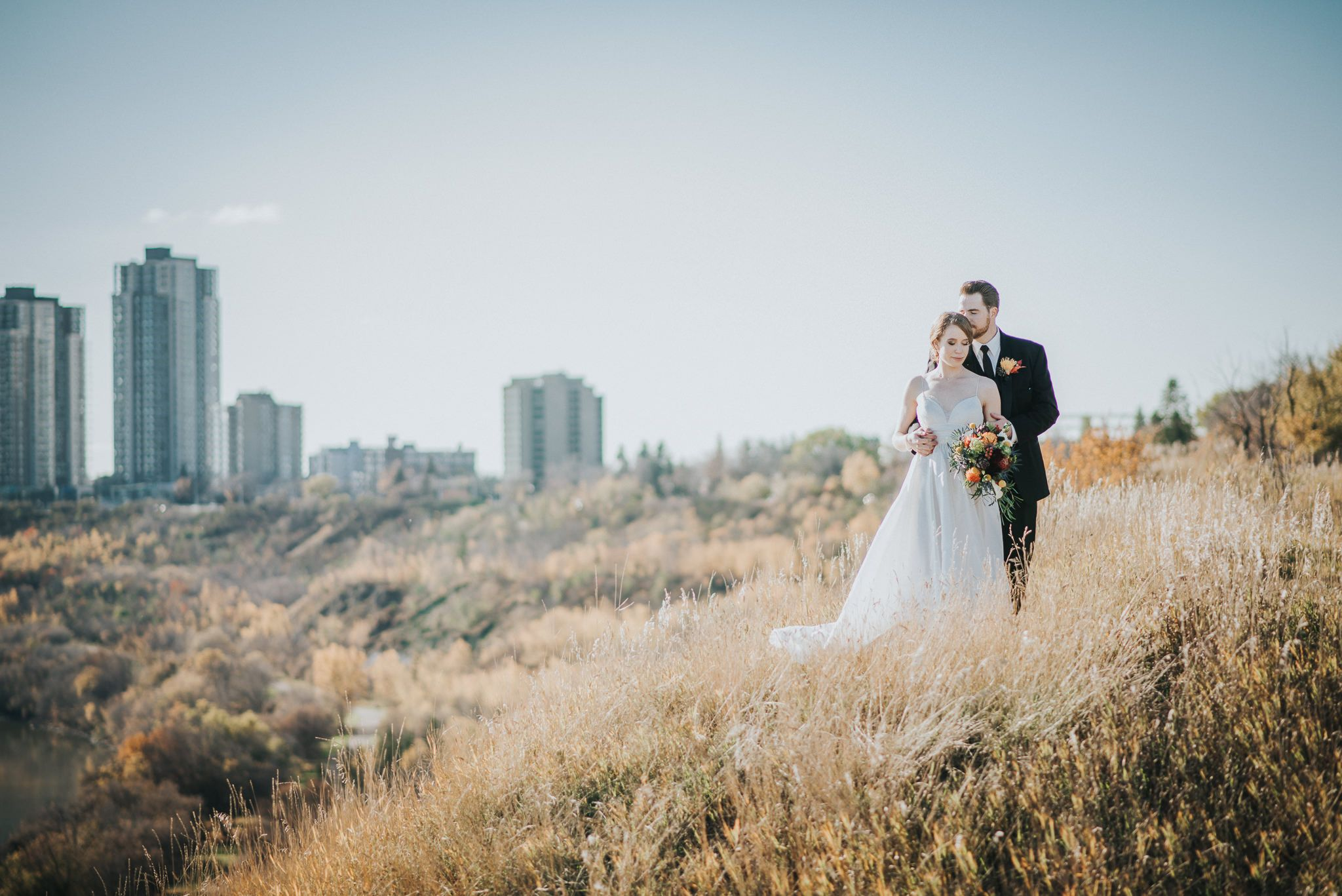 Intimate and Warm Yellowhead Brewery Wedding Real Astrid