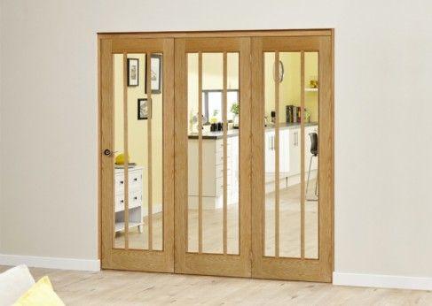 Lincoln Oak Roomfold Deluxe: Unfinished Oak Interior Bifold door ...