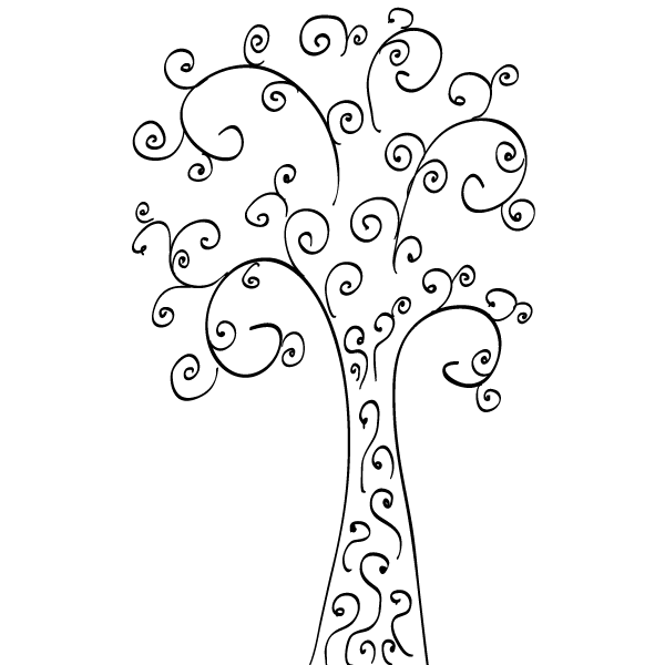 Curly Tree Clip Art Free