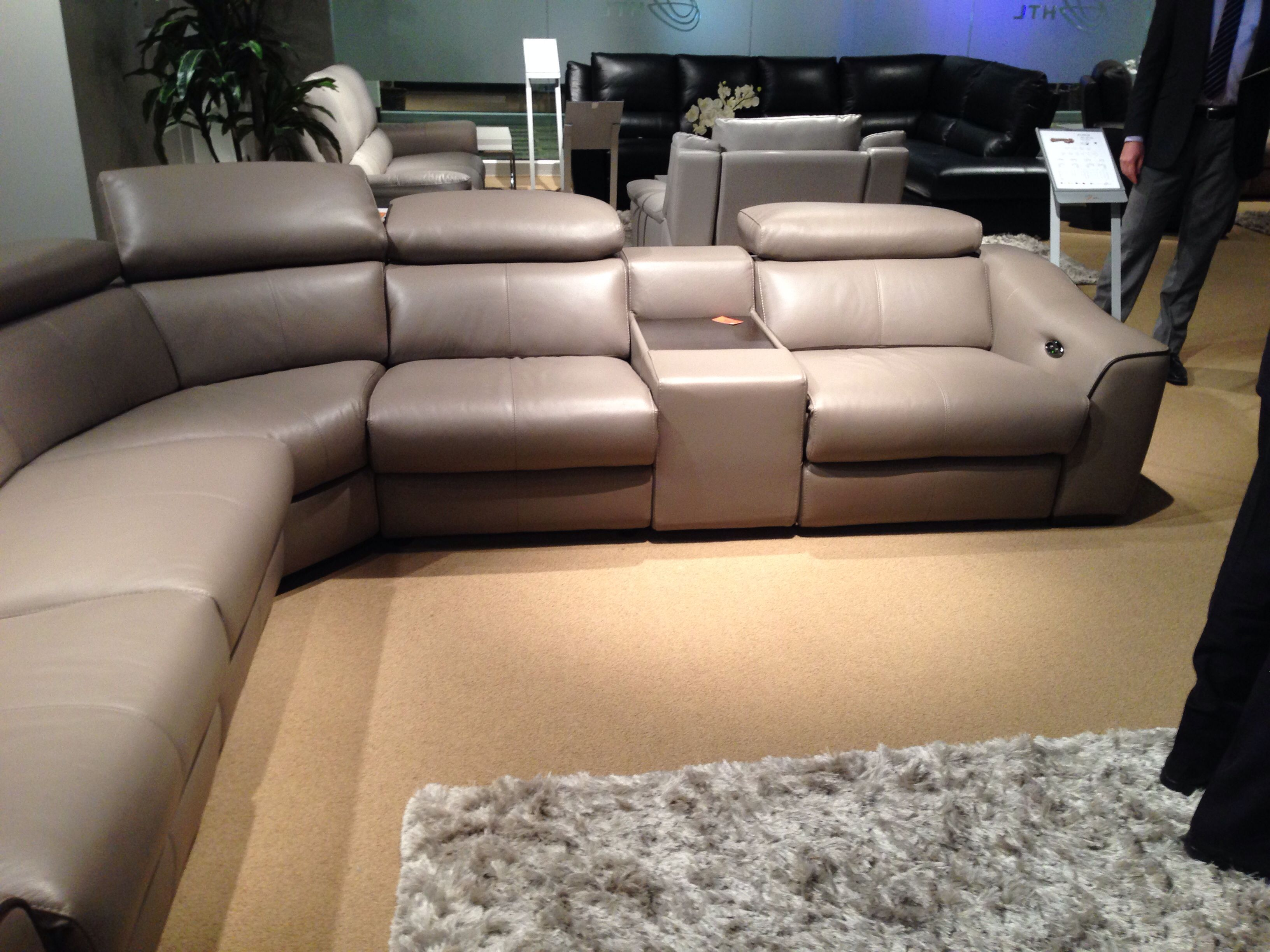 Power Motion Sectional With Ratchet Back Family Room