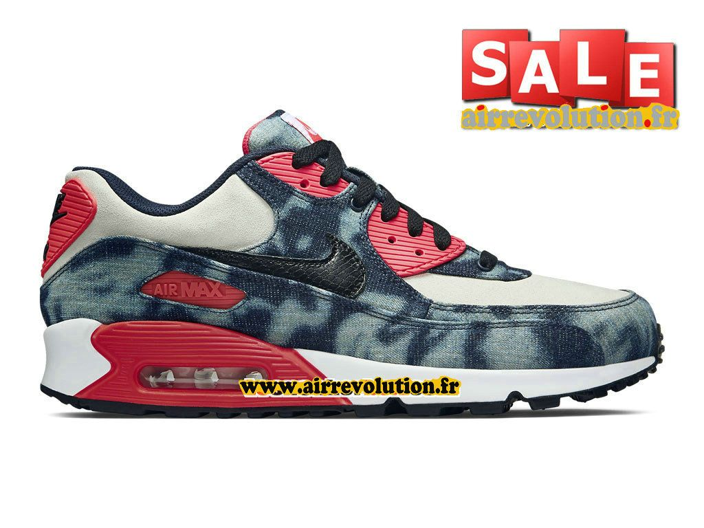 buy popular 8f74b ee350 NIKE AIR MAX 90 DENIM QS - CHAUSSURE NIKE SPORTSWEAR PAS CHER POUR HOMME  Bleu nuit