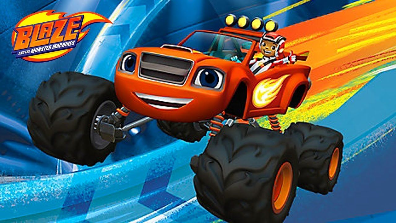 Blaze and the monster machines animal island stunts for Cartoni blaze