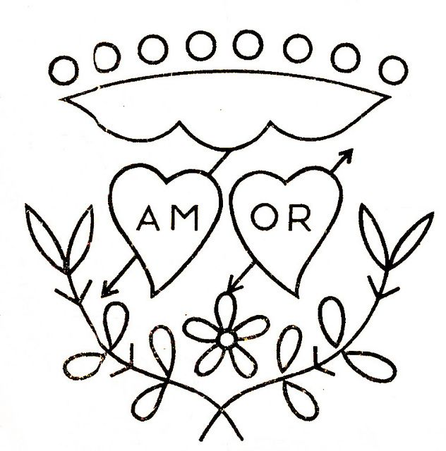 Amor motivo para bordar - \