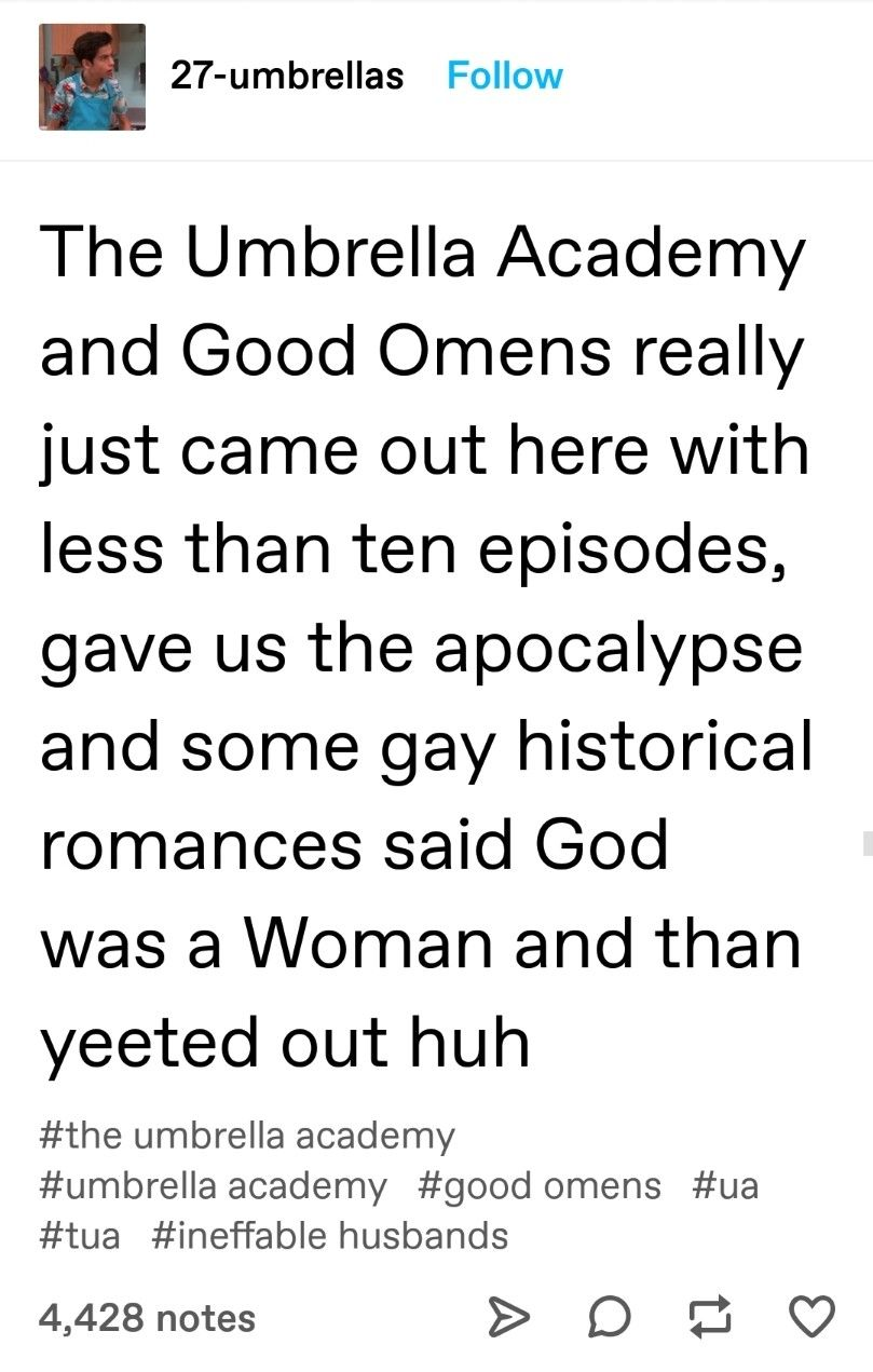 Umbrella academy and good omens