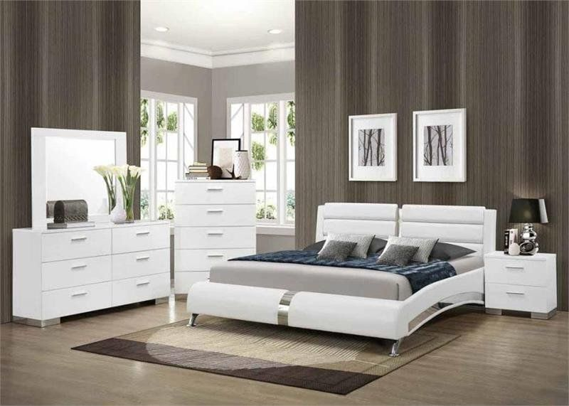 Coaster Felicity Platform 4 pc Bedroom Set Las Vegas Furniture Online | LasVegasFurnitureOnline | Lasvegasfurnitureonline.com