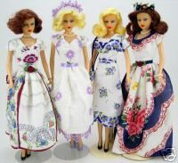 Can't wait to try this. Barbie doll clothes made from vintage hankies.