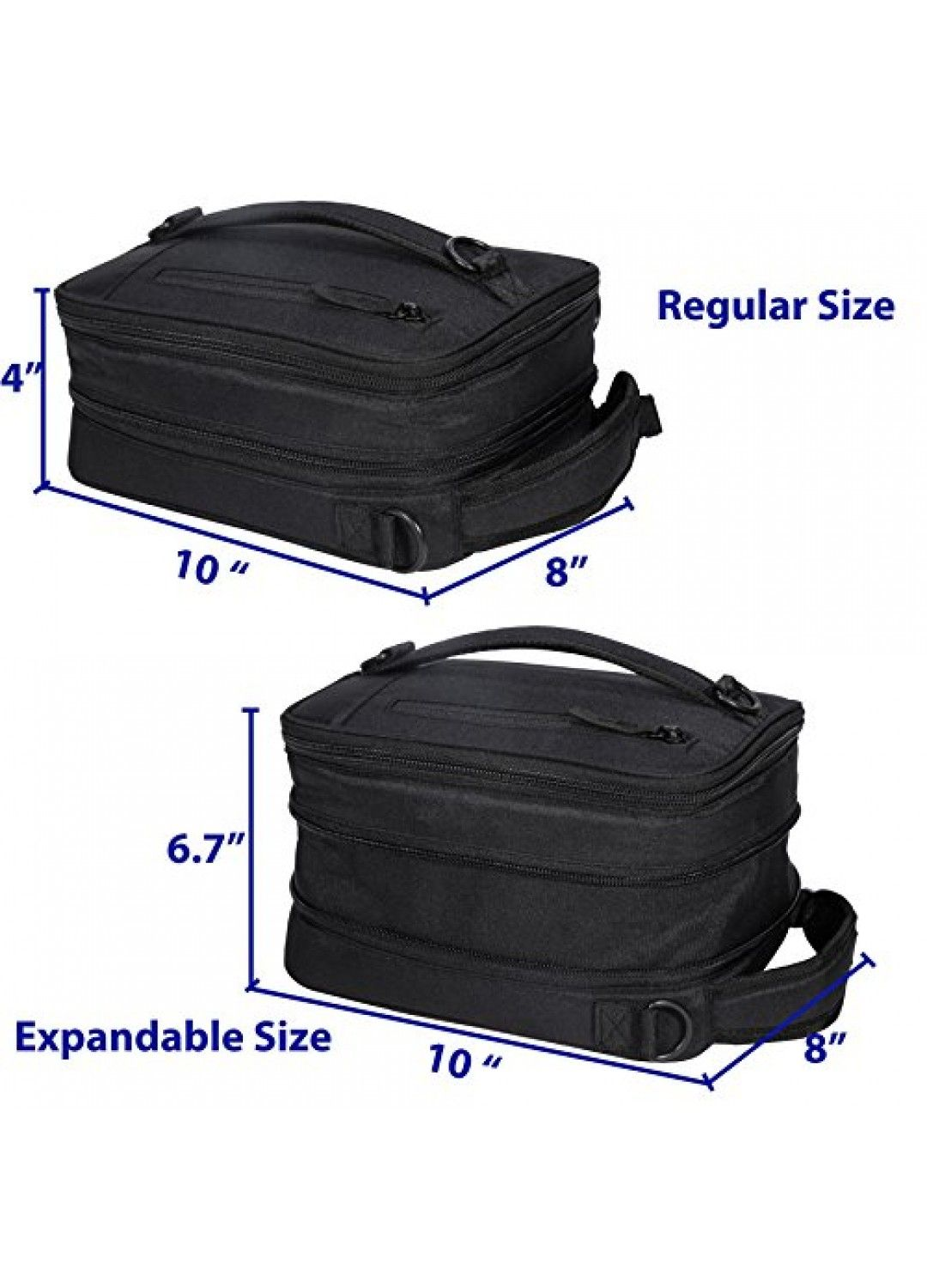 ced8a7d8786 MIER Insulated Lunch Box Bag Expandable Lunch Pack for Men, Women and Kids,  Black