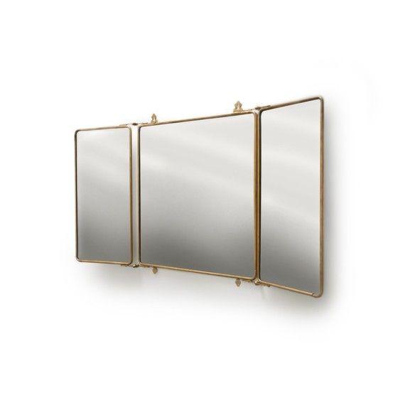 Daphne Metal Rectangular Trifold Mirror Dering Hall Mirror