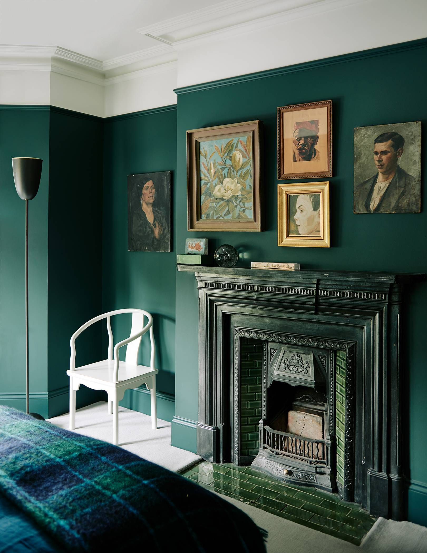 Designer Audrey Carden S Transformation Of Her London House Dark Green Living Room Gothic Living Rooms Living Room Green