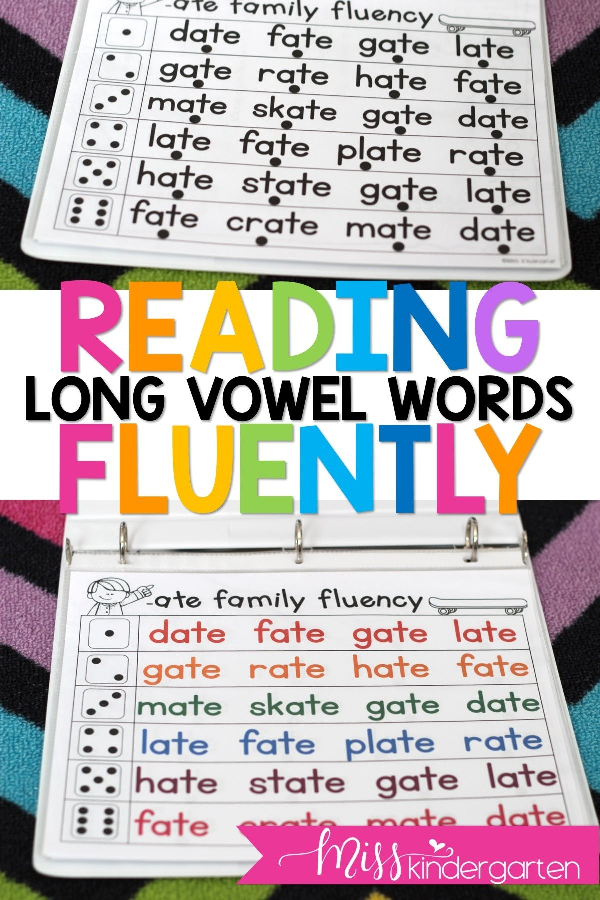 Long Vowel Fluency Practice Roll And Read In