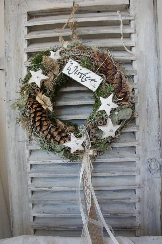 """Photo of Winter / door wreath """"Winter romance …."""""""