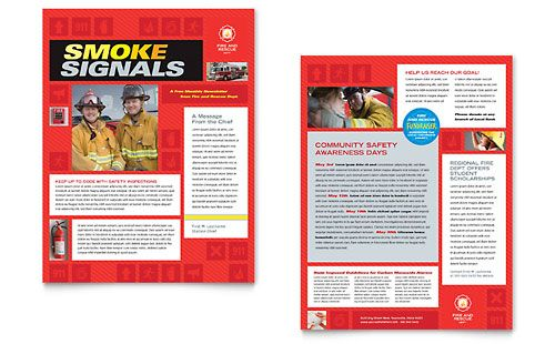 Fire Safety Newsletter Template by @StockLayouts | Newsletter ...