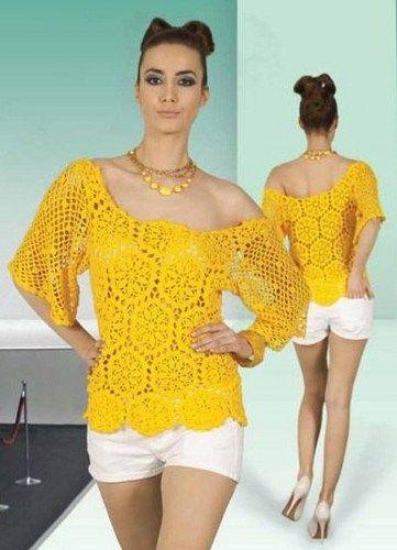 Crochet Blouse Pattern Diagrams Pdf Crochet Me Pinterest