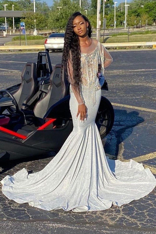 Long Sleeve Prom Dress Beading Mermaid Evening Gowns Prom Dresses Long With Sleeves Mermaid Evening Gown Prom Dresses With Sleeves [ 1500 x 1000 Pixel ]