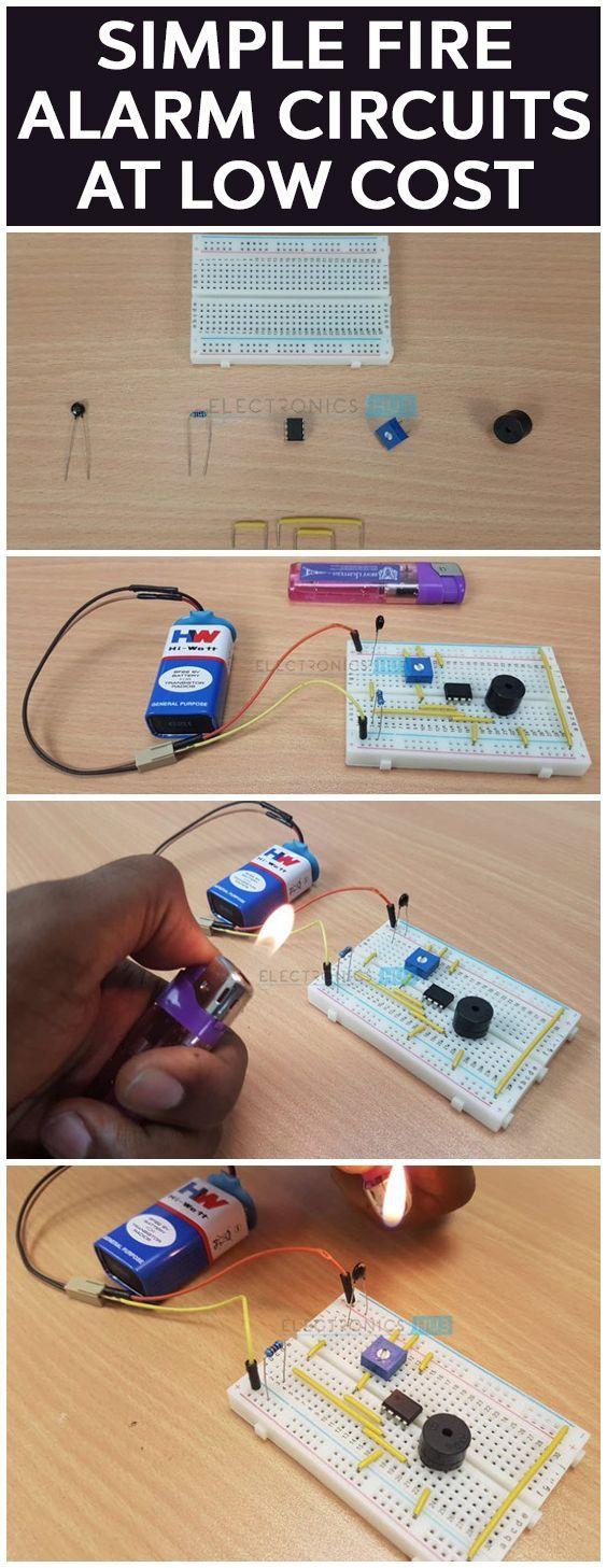 Simple Fire Alarm Circuit Using Thermistor Germanium Diode And Diagram For Lm341 In 2018 Design Pinterest Circuits Arduino